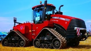MEGA Tractor Case Quadtrac 600 HP and more in Farmet company Working demonstration