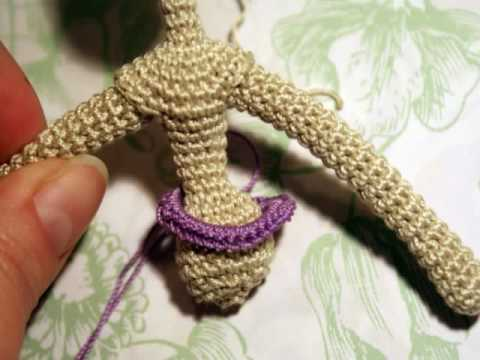 How to make a doll on crochet - YouTube