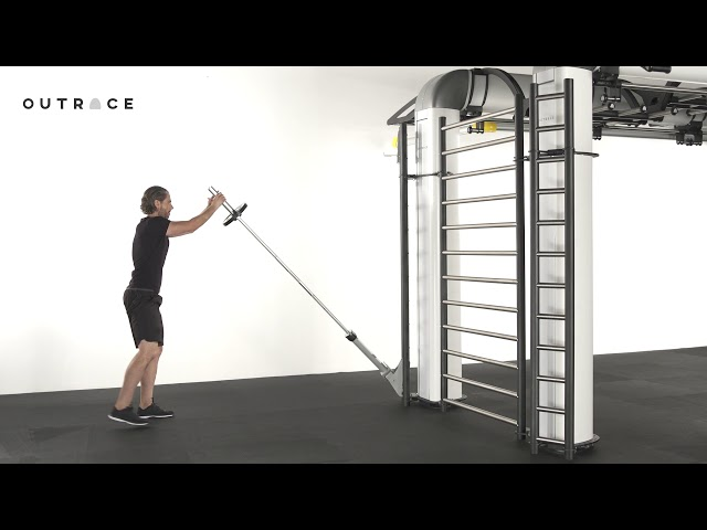 Barbell Lever Lunge To Press
