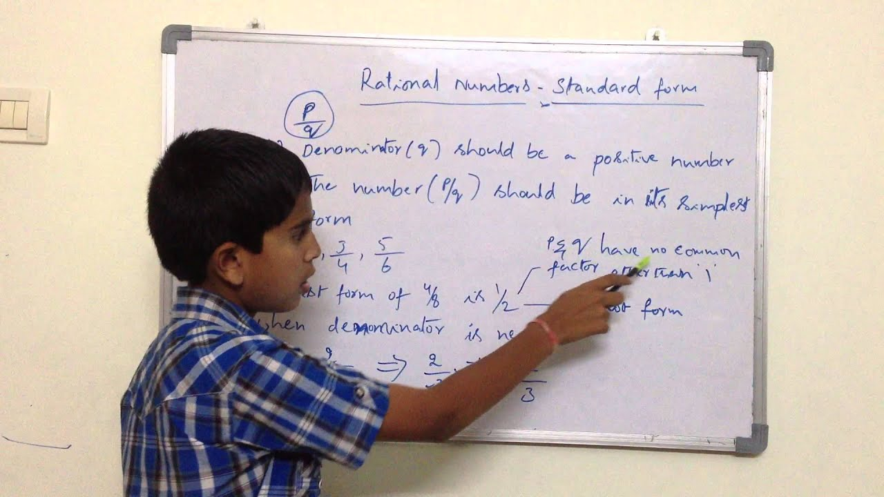 Mathematics Rational Numbers Standard Form By Hrishi Youtube