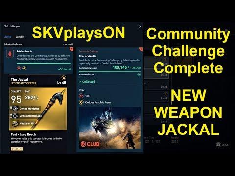 JACKAL - NEW WEAPON, Community Challenge Complete, Assassin's Creed Origins PC