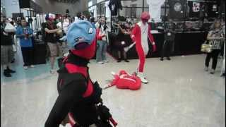 Anime Expo 2012 - Random Acts of Silliness & Fun - Red Ranger & Deadpool