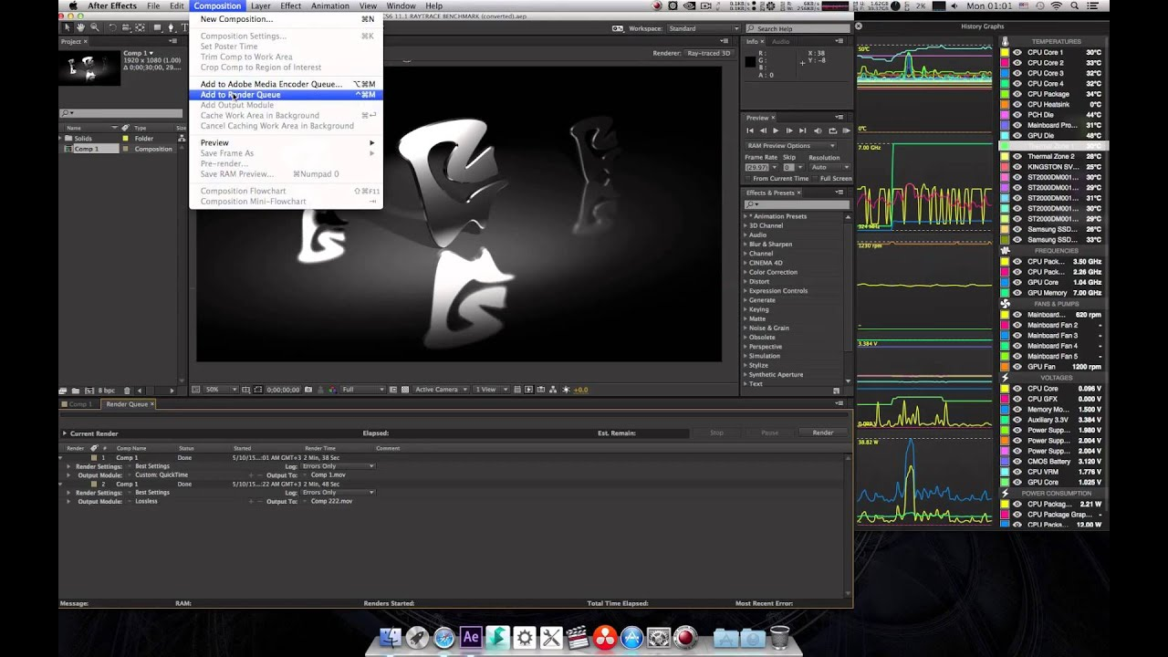 GeForce GTX 780 Ti After Effects CC CUDA Benchmark Test