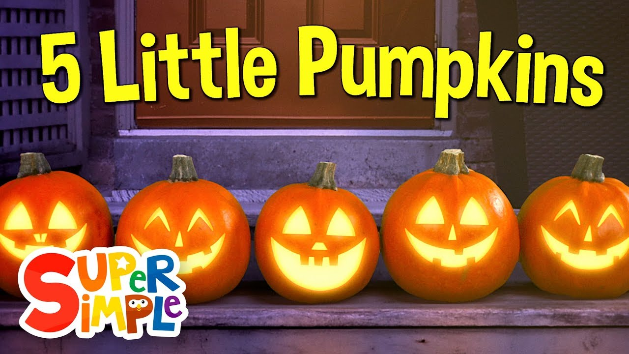 Five Little Pumpkins | Pumpkin Song | Super Simple Songs - YouTube
