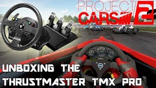 Unboxing the Thrustmaster TMX Pro Racing Wheel and Playing Project Cars 2!