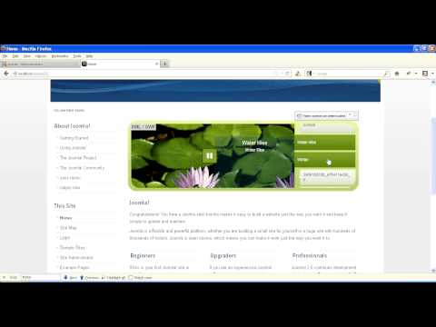 Joomla Home Page Slideshow Installation Video