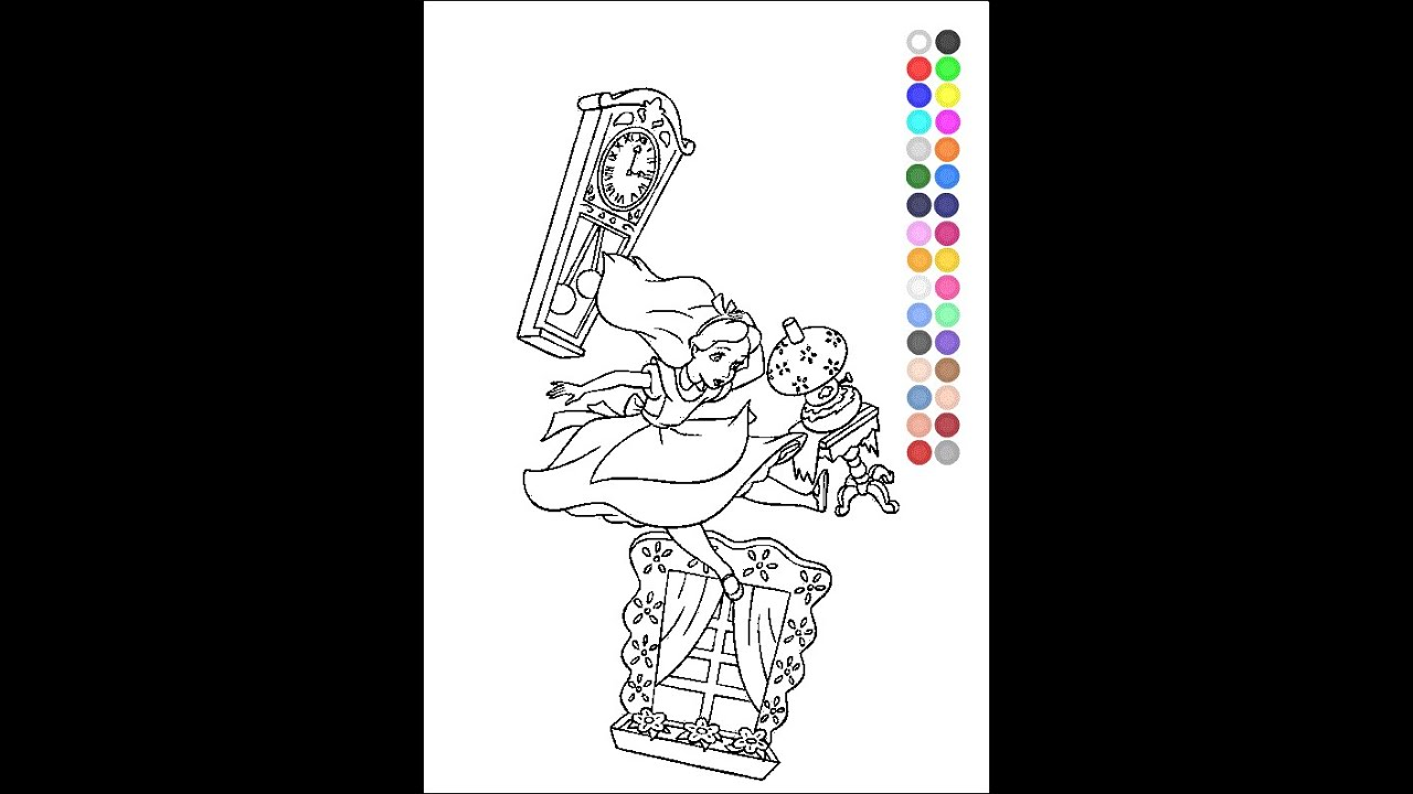 Alice In Wonderland Coloring Pages For Kids Alice In Wonderland