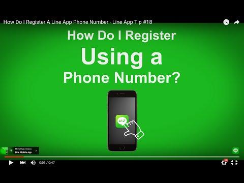 How Do I Register A Line App Phone Number - Line App Tip #18