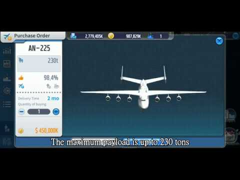 AN-225: The largest cargo plane in Air Tycoon 5/ Air Tycoon Online 3 |