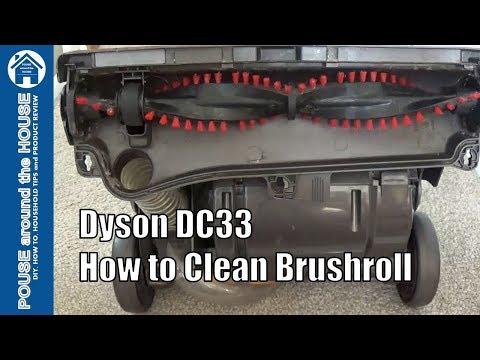 How to clean Dyson DC33 brushroll. Dyson brushroll quick clean!