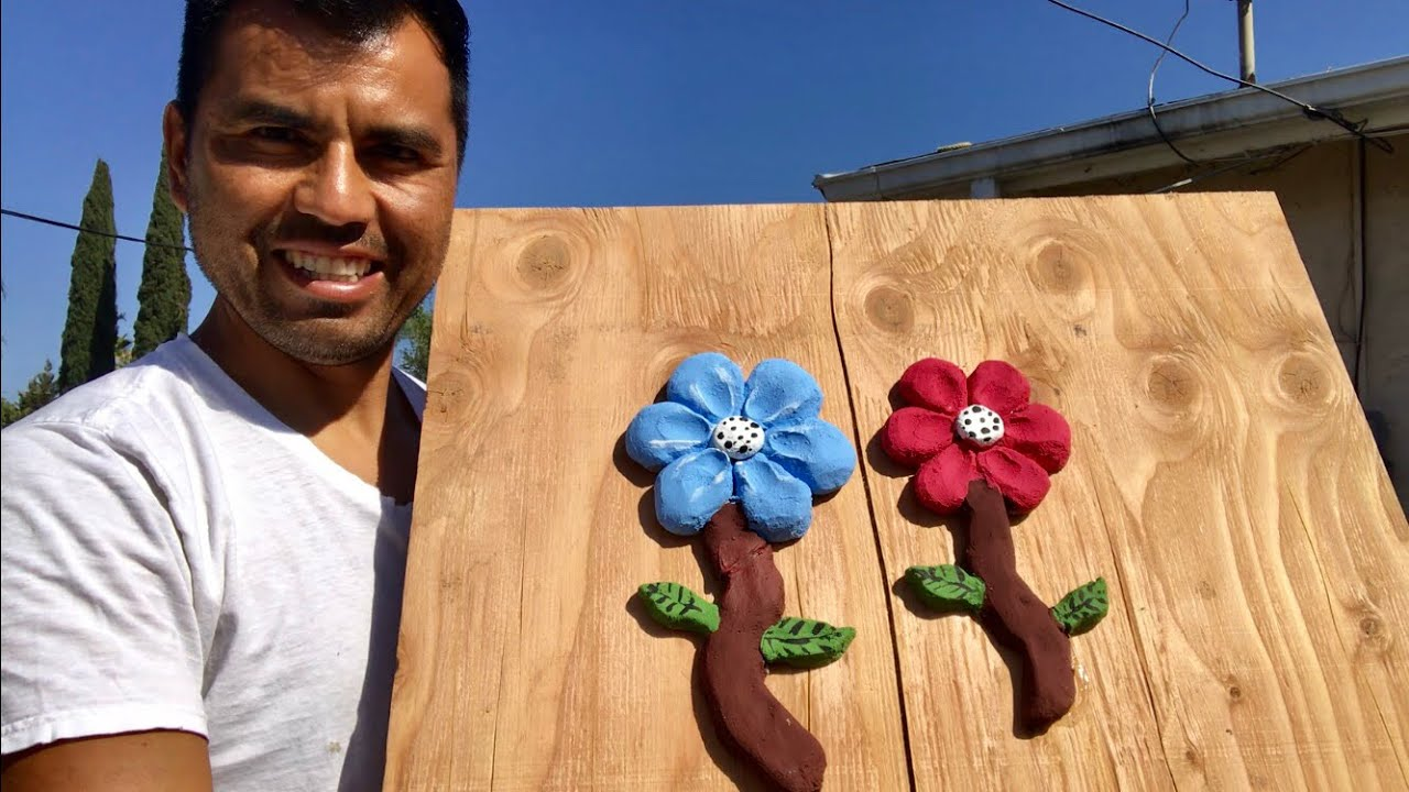 COMO HACER FLORES DE CEMENTO / MAKING PORTLAND  CEMENT FLOWERS