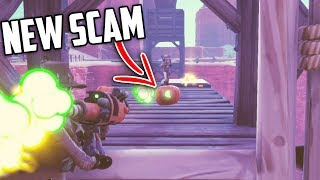 *NEW SCAM* The Falling Bridge Scam... (Scammer Gets Scammed) - Fortnite Save The World