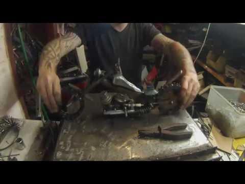 Scrap metal motorbike