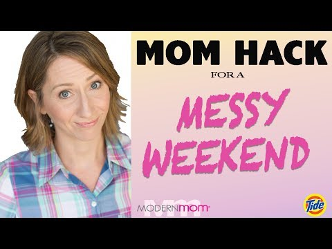 Funny Mom Hack For A Messy Weekend