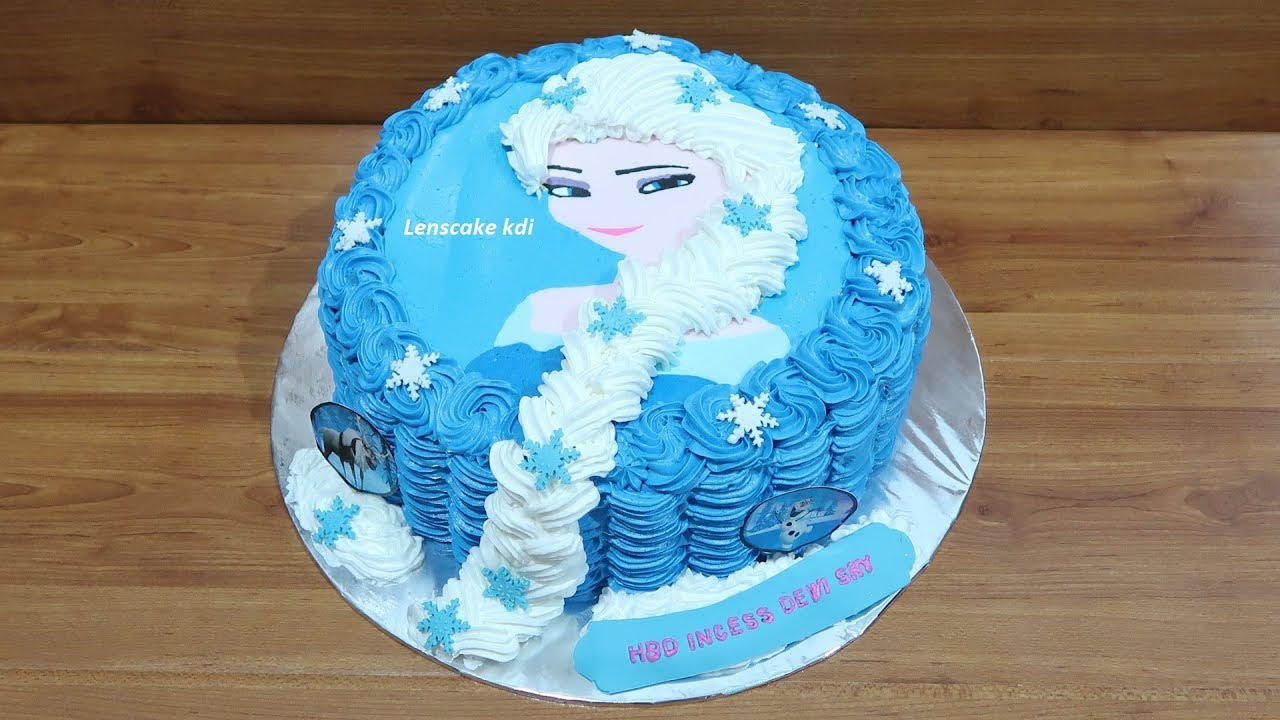 How to Make Birthday Cake Frozen Elsa Cara Membuat Kue Ulang Tahun