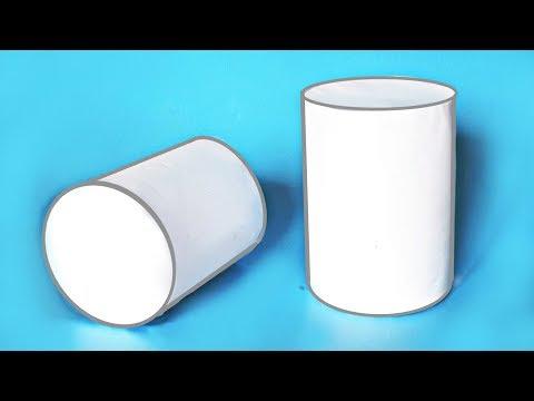 Как сделать объемный ЦИЛИНДР из бумаги?     Геометрические фигуры своими руками
