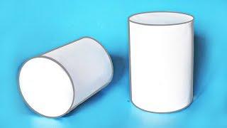Как сделать объемный ЦИЛИНДР из бумаги? ||| Геометрические фигуры своими руками