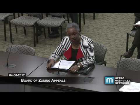 04/06/17 Board of Zoning Appeals