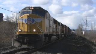(HD) Union Pacific 4150 freight Salem,Oregon