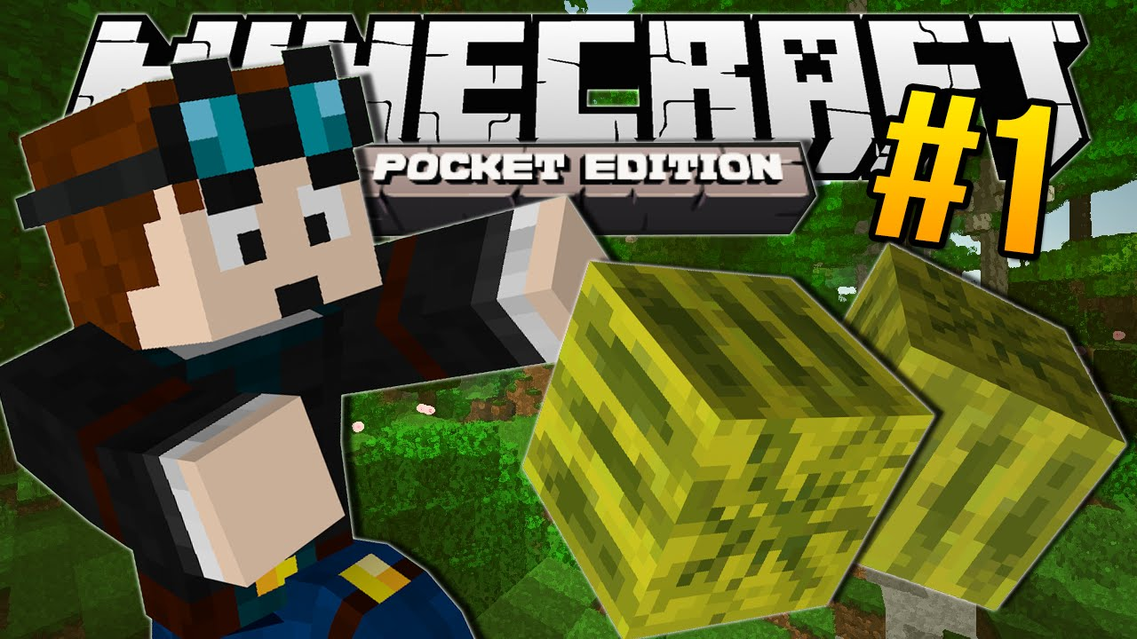 Minecraft pocket edition melon jungle 1 youtube for Mine craft pocket addition