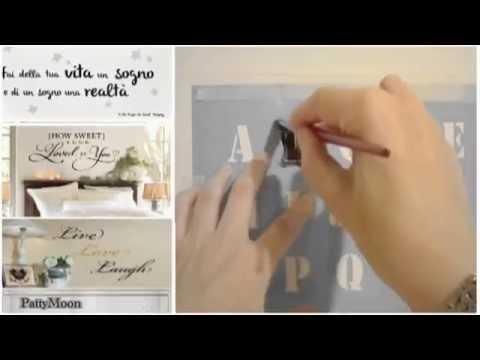 Come fare le scritte murali decorative  5 metodi   YouTube