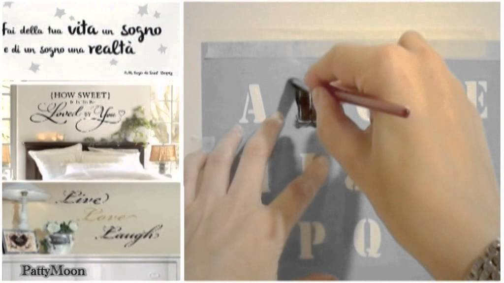 Come fare le scritte murali decorative  5 metodi   YouTube