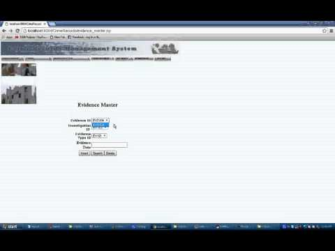Crime Records Management System Java Project