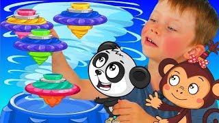 Инфинити Надо - Ян и Биби Играют в Боевые Волчки - Видео Для Детей с Игрушками