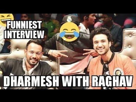 RAGHAV KE RAPTE WITH DHARMESH | Dance Plus 3 |FUNNIEST INTERVIE .