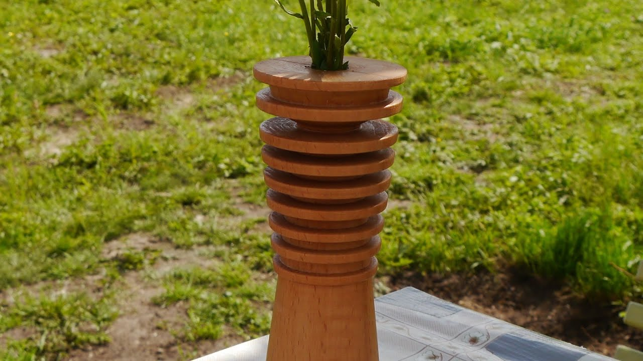Точим вазу.