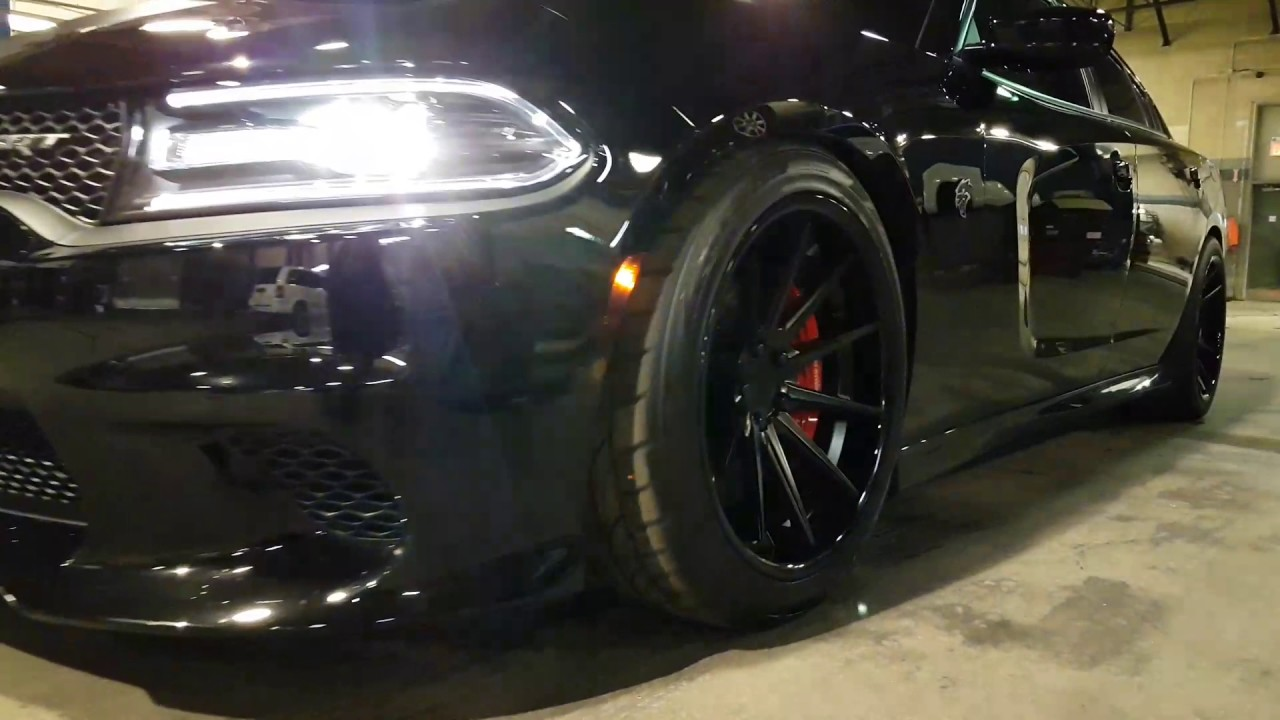 Dodge Charger Hellcat On Ferrada Fr4 Lowered With Kw