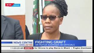 Governor Mutua war on graft