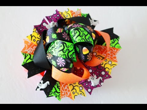 DIY Halloween Hair bow (RE-DO) /  Stacked Hairbow tutorial