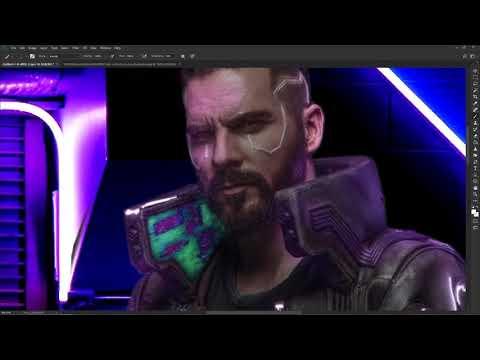 CyberPunk 2077 - Speed Art (#Photoshop)