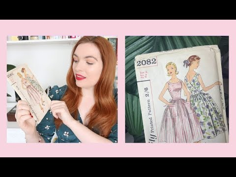 My Vintage Sewing Patterns - YouTube