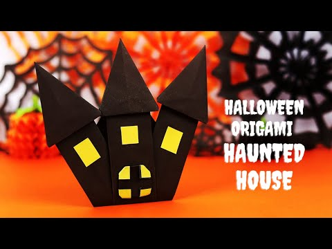 Halloween Origami Haunted House | Paper Ghost House | Halloween Paper Crafts
