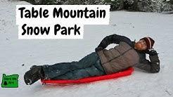 Sledding at Table Mountain Snow Park in Oregon