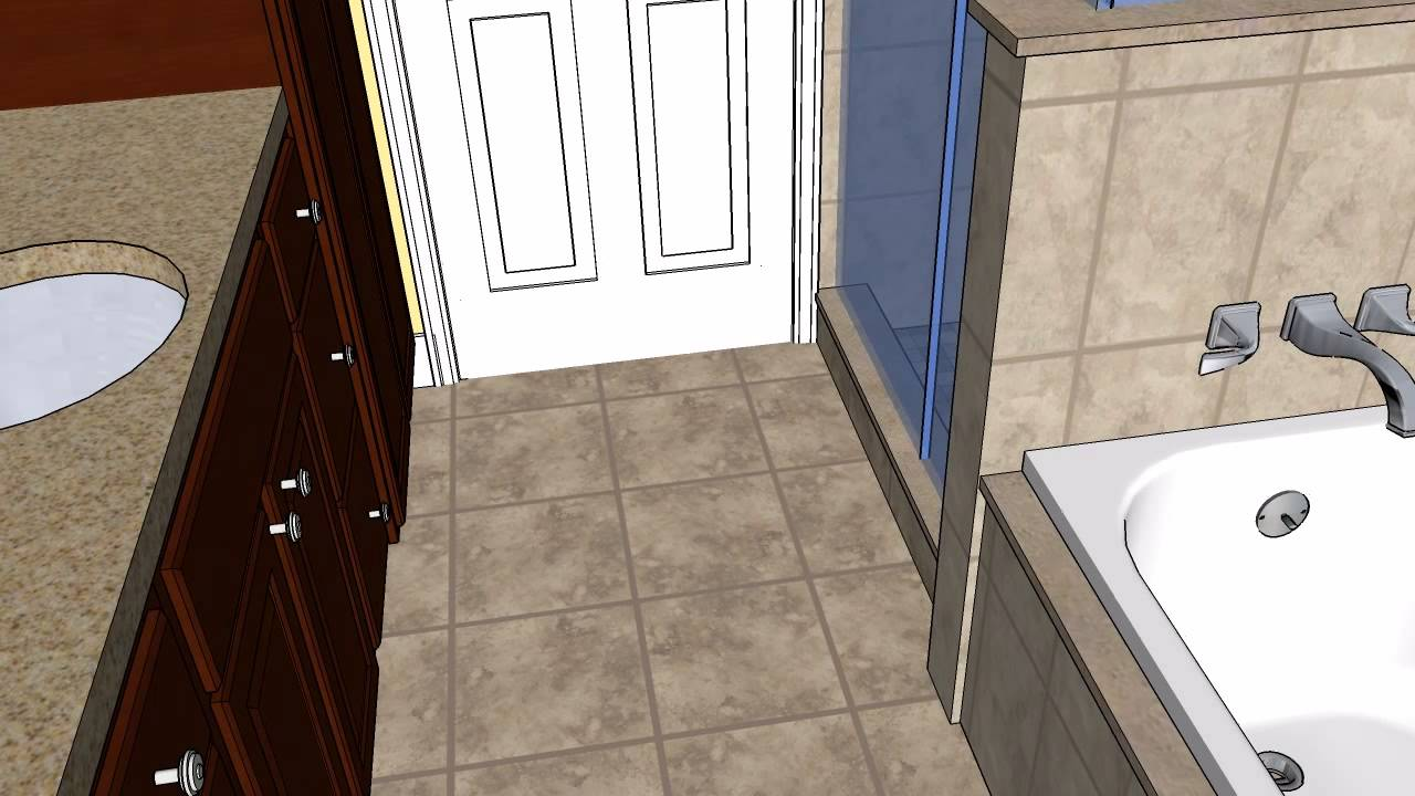 Johnston Bathroom CAD Design   MasterCraft Kitchen U0026 Bath