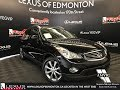 Used Black 2013 Infiniti EX37 Walkaround Review Ponoka Alberta