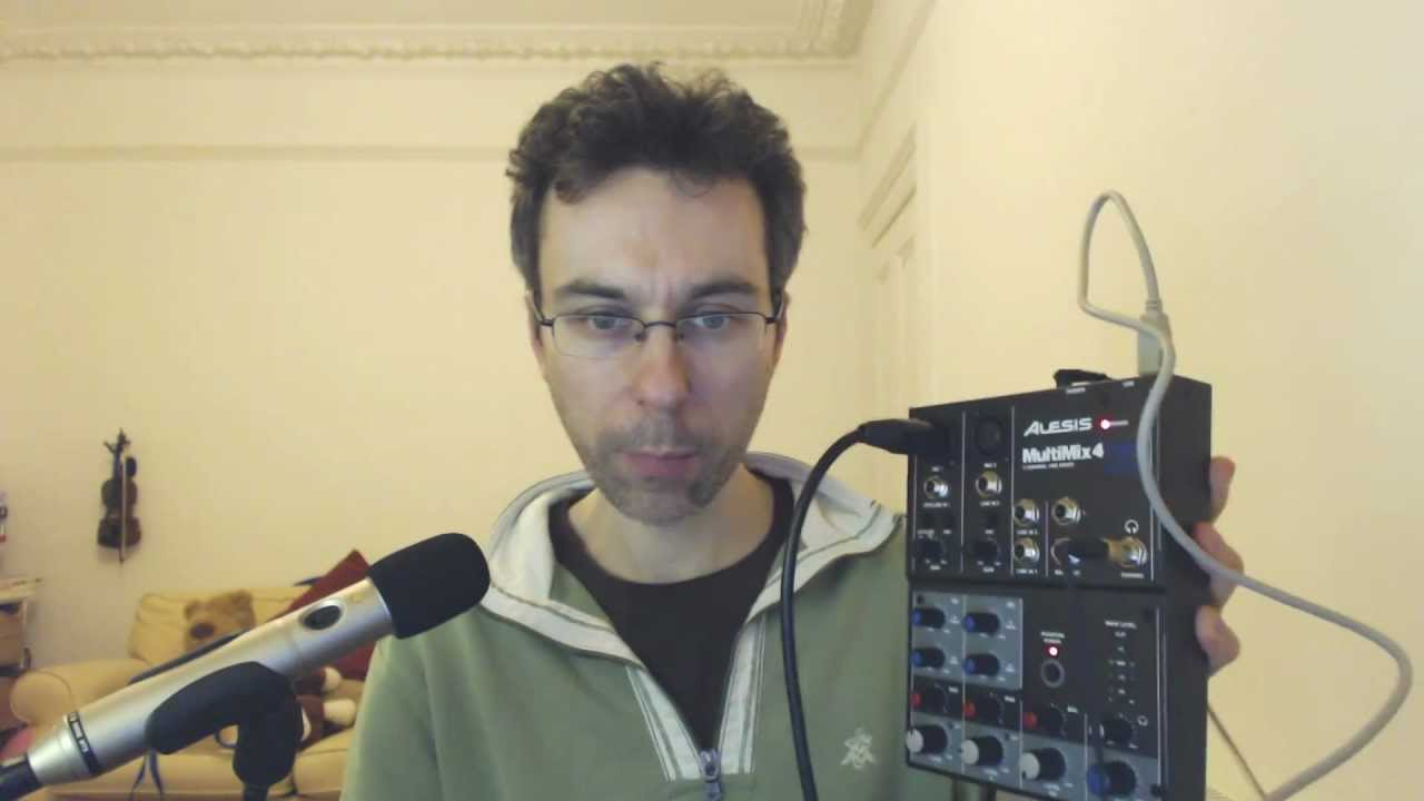 alesis multimix 4 usb sample recording demo and review youtube. Black Bedroom Furniture Sets. Home Design Ideas