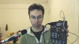 Alesis MultiMix 4 USB Sample Recording, Demo and Review