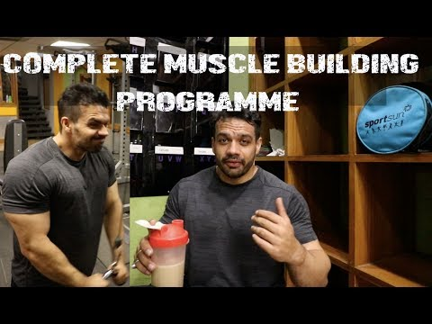 COMPLETE LEAN MUSCLE BUILDING PROGRAMME  |WORKOUT + DIET