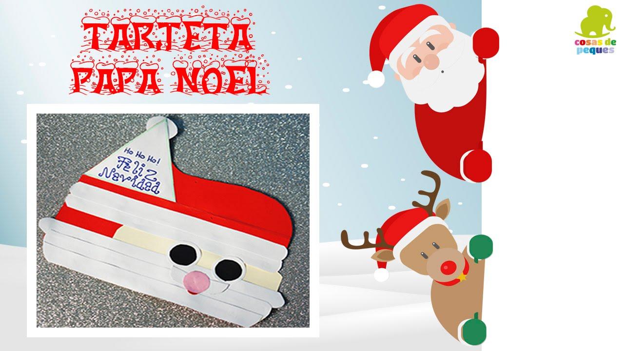 Tarjeta de pap noel manualidades de navidad - Manualidades navidad primaria ...