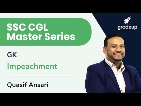 SSC CGL Master Series   GK   Impeachment