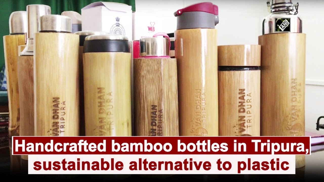 Handcrafted bamboo bottles in Tripura, sustainable alternative to plastic -  YouTube