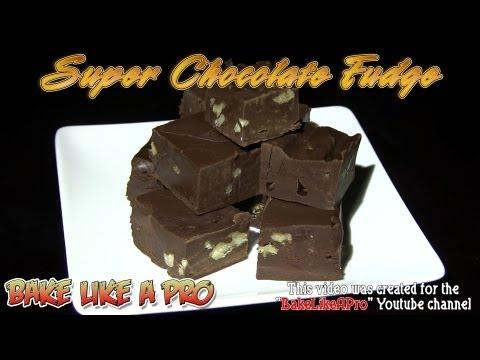 Super Chocolate Fudge Recipe - NO BAKE !