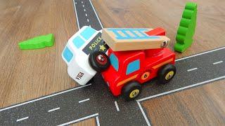 Машинки игрушки Мультик Город Машинок 331 серия: Полицейская пожарная машина и скорая на перекрёстке