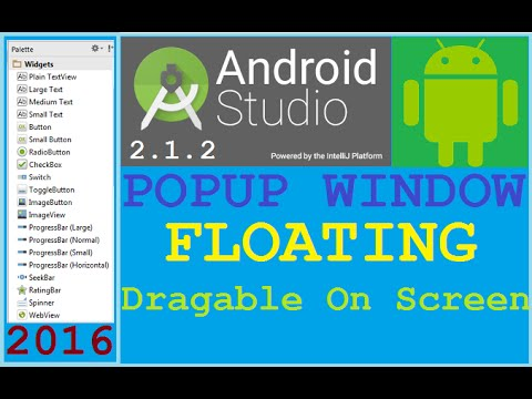 Android Studio Tutorial - How To Implement Floating Popup Window In Android.