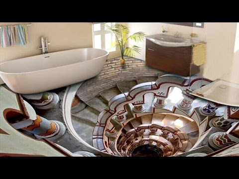 3D Bathroom Floor Designs That  Will Mess With Your Mind ᴴᴰ █▬█ █ ▀█▀