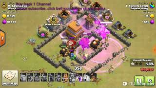 ALL TROOPS ATTACK IN CLASH OF CLANS dumb attacker
